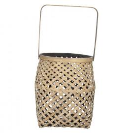 IBARAKI - lantern - bamboo - naturel/black - L - DIA 23 x H 25,5 cm