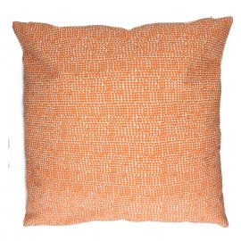 CUBA LIBRE - cushion - cotton - herringbone print - orange - L - 60x60cm