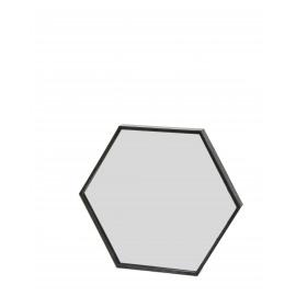 ZEN - mirror zeshoekig - metaal/glas/MDF - S - 30,5x3,5x26,5 cm