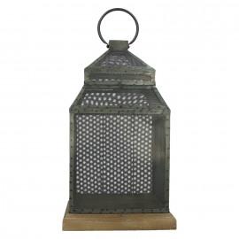 ORAKARI - lantern - metal/wood - 28x28x58 cm