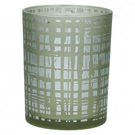 FROZEN - photophore - verre - DIA 10 x H 12,5 cm - argent