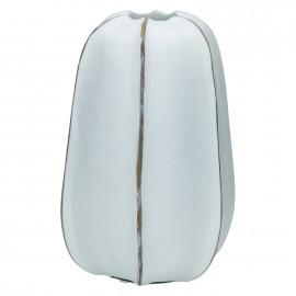BORAS - vase - polyresin/waterproof - white - 17x15,5x24,5cm