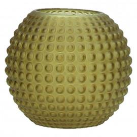 POP UP - bolle vaas - glas - mat amber - S - DIA 11 x H 10cm