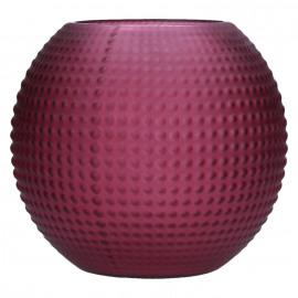 POP UP - bolle vaas - glas - mat bordeaux - L - DIA 21 x H 18cm