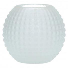 POP UP - bolle vaas - glas - mat wit - S - DIA 11 x H 10cm