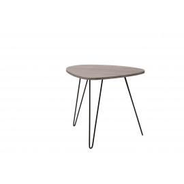 CHARLOT - Bijzettafel - MDF/grijs fineer - metaal - 69x54x60 cm