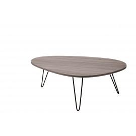 CHARLOT - Koffietafel - MDF/ grijs veener - metaal - M - 112x80x40 cm