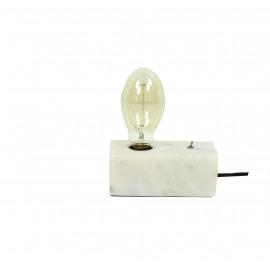 PAROS - Tafellamp - E27 - marmer - wit - 17,80 x 8,90 x 7 cm