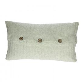 LAZY SUNDAY - kussen - 35% polyamide/35% modal/20% wool/10% angora - licht grijs - 50x30 cm