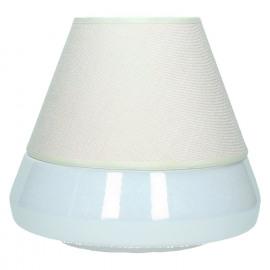 QUELUZ - Lamp -E27 - keramiek - lampenkap PVC - wit -  25 x Ø26 cm