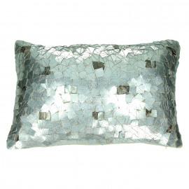 CAMBON - cushion - velvet/ embroidered nacré - beige - 30x50cm