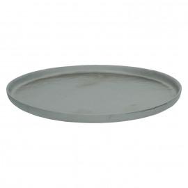 STELLAR - dessert plate - earthenware - DIA 22 cm - bronze