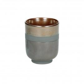 STELLAR - STELLAR - drinkbeker - porselein - Ø6,5 x H8 cm - aardewerk - DIA 6,5 x H 8 cm - brons