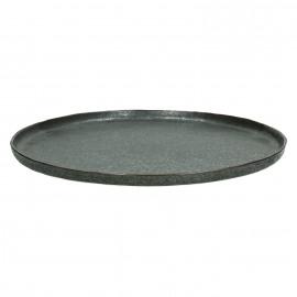PORCELINO BRONZE - presentatie bord - porselein - DIA 33 cm - brons