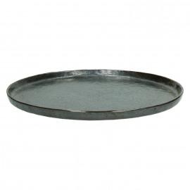 PORCELINO BRONZE - dinner bord - porselein - DIA 27 cm - brons