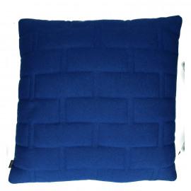 SHINJUKU - kussen - 65% wol/35% div - donkerblauw - 60x60cm