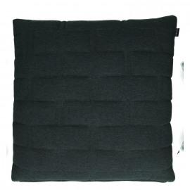 SHINJUKU - cushion - 100% cotton/jersey - dark grey - 60x60cm