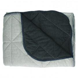 SHINJUKU - plaid - 100% katoen/jersey - donkergrijs/ lightgrijs - 130x170cm