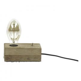 CARVED - Lamp - E27 - mangoboom - wit gebleekt - M - 17,80 x 8,90 x 7 cm