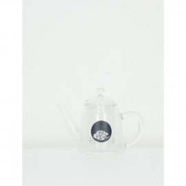 HAPPINESS - teapot - glass - dark blue cloud - 21x11,5x14,5cm