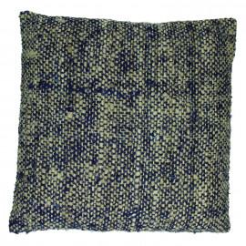 BADABOUM - coussin - coton - L 45 x W 45 cm - bleu