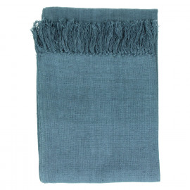 RHAPSODY - throw - 100% stone washed cotton - grey - 130x170cm