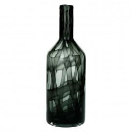 ORFEO - fles - glas - zwart - M - DIA 10 x H 31cm