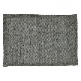 SIMPLICITY - tafelloper - 100% katoen - zwart - 40x140 cm