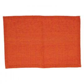 SIMPLICITY - placemat - 100% katoen - oranje - 33x48 cm