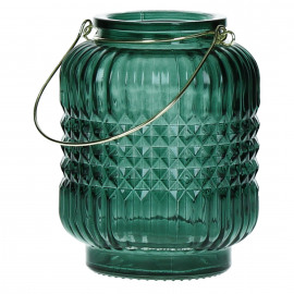 PICADILLY - T/light - glas - smaragd groen - 9,20x9,20x12 cm