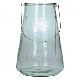 SMILE IN - lantern - glass - smoke - L -