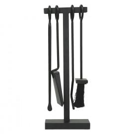 YANG - open haard tools - metaal - zwart - 15 x 9 x 42 cm