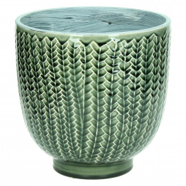 COCOONING - flowerpot - ceramic - dark green - L - Ø20 x H20 cm