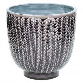 COCOONING - bloempot - fijn aardewerk - donker paars - L - Ø20 x H20cm
