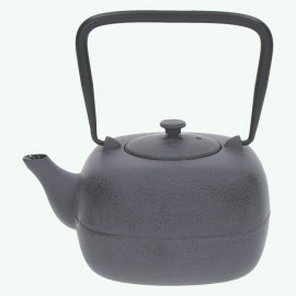 RAKU - tea pot  - cast iron - L 17 x W 14 x H 10 cm - grey