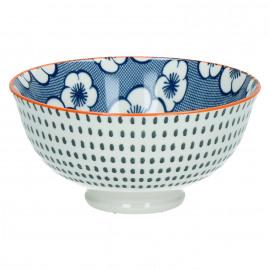 OKIDOKI - bowl - porselein - indigo - S - Ø12x6cm