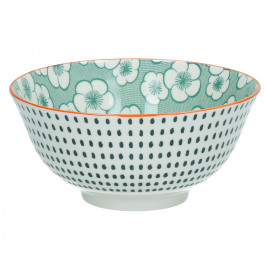 OKIDOKI - bowl - porselein - groen - L - Ø15x7cm