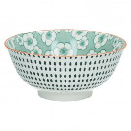 OKIDOKI - pasta bowl - porselein - groen - Ø18x8 cm