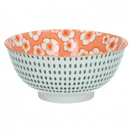 OKIDOKI - pasta bowl - porcelain - orange - Ø18x8cm