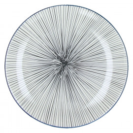 DELICATE - dessert bord - porselein - dark slate - Ø21,5 cm