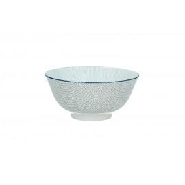 DELICATE - bowl - porselein - licht blauw - L - Ø15x7cm
