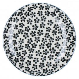 CHIYO - dessert plate - porcelain - black - Ø21,5cm
