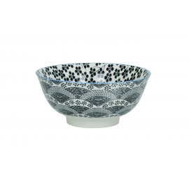 CHIYO - pasta bowl - porcelain - black - Ø18x8cm