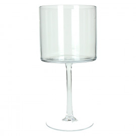 LILLY - hurricane on stand - glass - S
