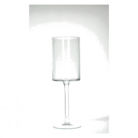 LILLY - photophore sur pied - verre - MM