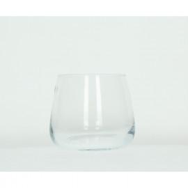 ROSETTE - vaas - glas - L - Ø18 X 18cm