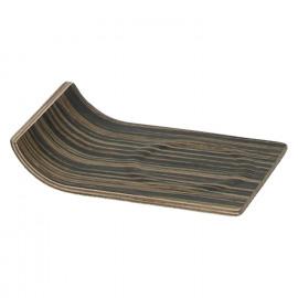MIYUKI - onderzetter - hout - DIA 13 x H 9,5 cm - zwart