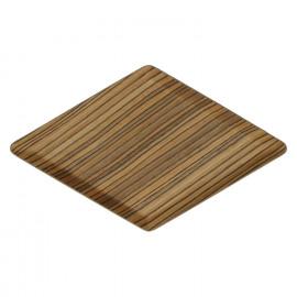 MIYUKI - Ruitvormig schoteltje - hout multiplex - bruin - 29,5 x 17 cm