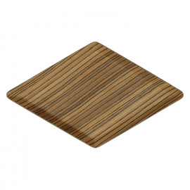 MIYUKI - Plateau rhombique- bois multiplis - brun - 29,5 x 17 cm