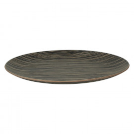 MIYUKI - ronde plateau - hout - DIA 41 cm - zwart